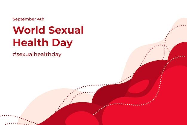 世界の性的健康の日のコンセプト 無料ベクター