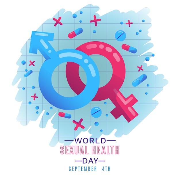 Concetto di giornata mondiale della salute sessuale Vettore gratuito
