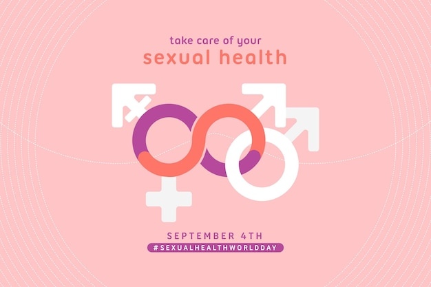 World sexual health day concept Free Vector