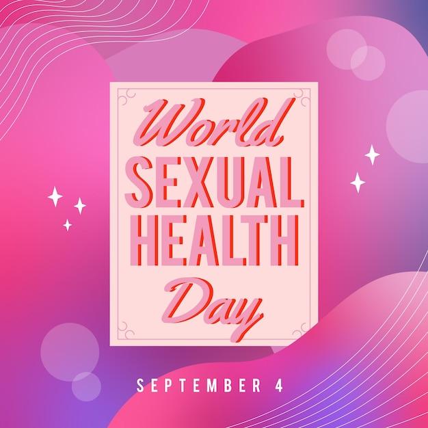 Evento della giornata mondiale della salute sessuale il 4 settembre Vettore gratuito