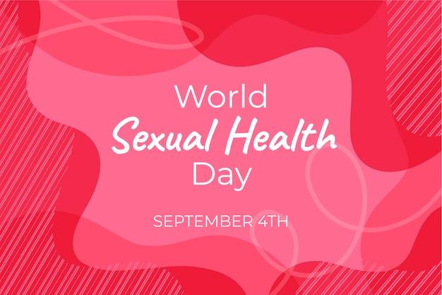 Всемирный день сексуального здоровья розовый волнистый фон Бесплатные векторы