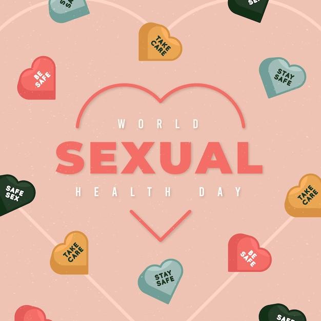 Testo della giornata mondiale della salute sessuale Vettore gratuito