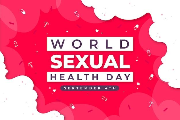 Carta da parati giornata mondiale della salute sessuale Vettore gratuito