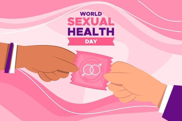 コンドームで世界の性の健康の日 無料ベクター