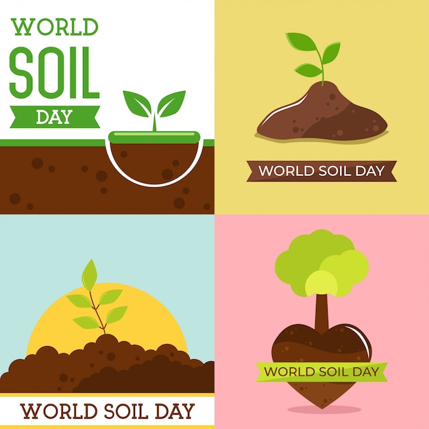 World soil day design vector illustration Premium Vector