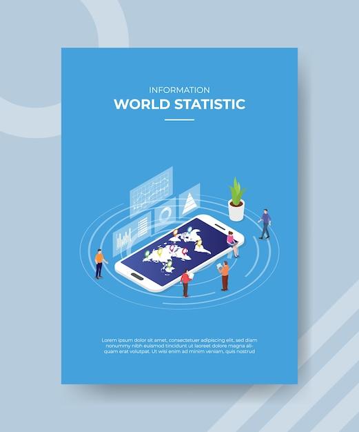 Concetto di informazioni statistiche mondiali per modello. Vettore gratuito