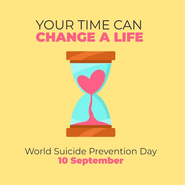 Концепция всемирного дня предотвращения самоубийств Бесплатные векторы