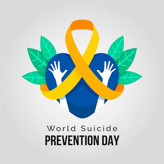 Всемирный день предотвращения самоубийств сердцем и руками Бесплатные векторы