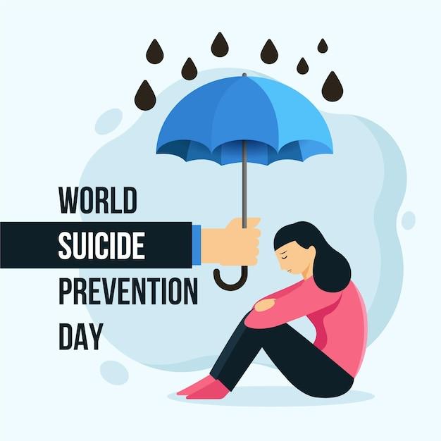 Всемирный день предотвращения самоубийств Premium векторы