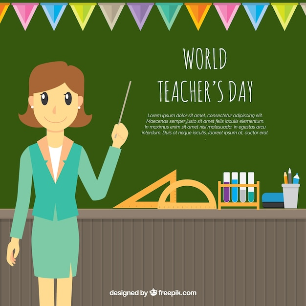 World teacher day, celebration in class