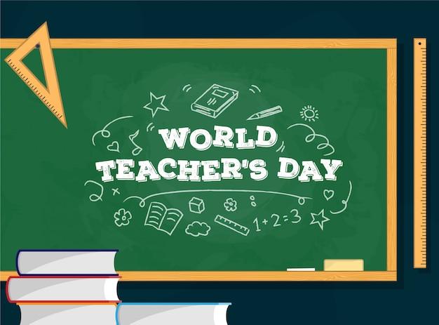 World teacher's day Premium Vector