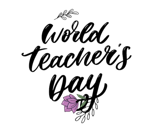World teacher's day Premium Vector