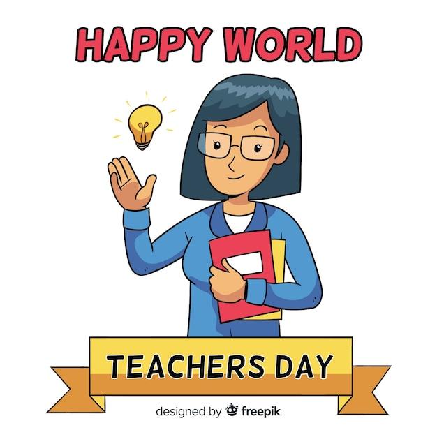 World teachers\' day composition female\ teacher