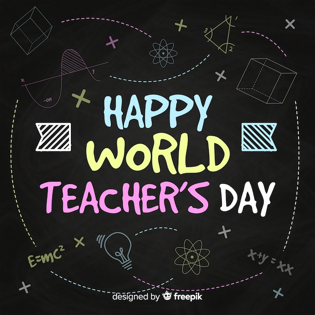 World teachers\' day composition with modern\ typography