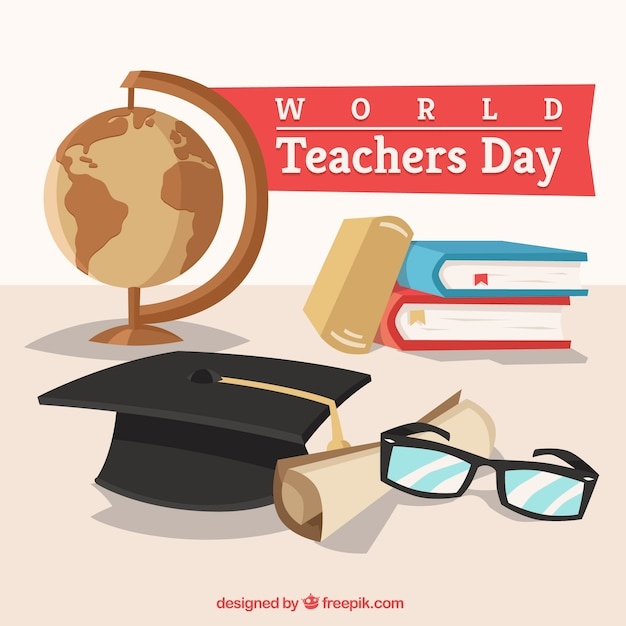 World teachers ' day, school elements