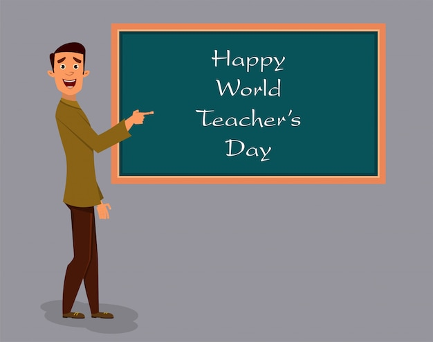 World teachers day Premium Vector