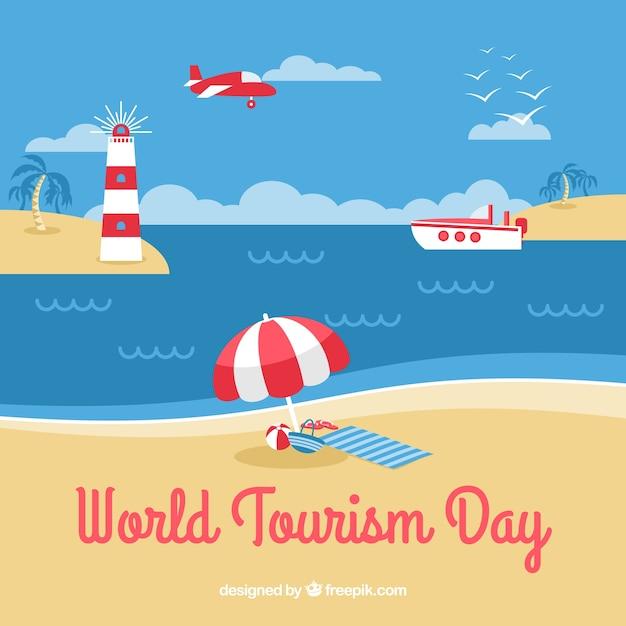 World tourism day, a beach