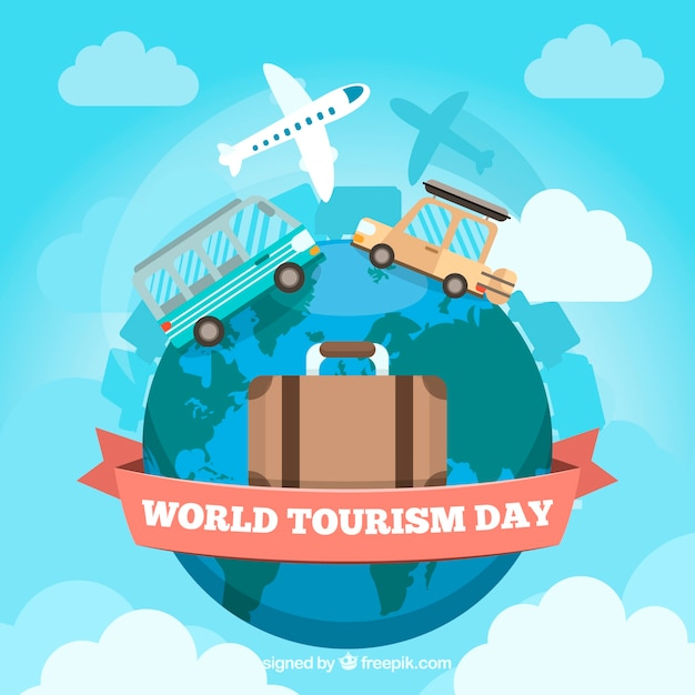 World tourism day, different ways of traveling