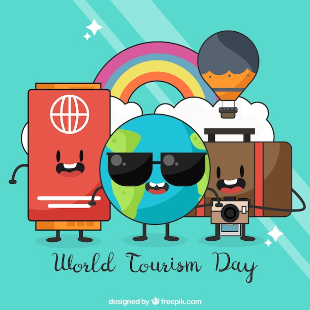 World tourism day, fun travel items