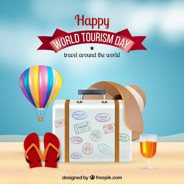 World tourism day, realistic style