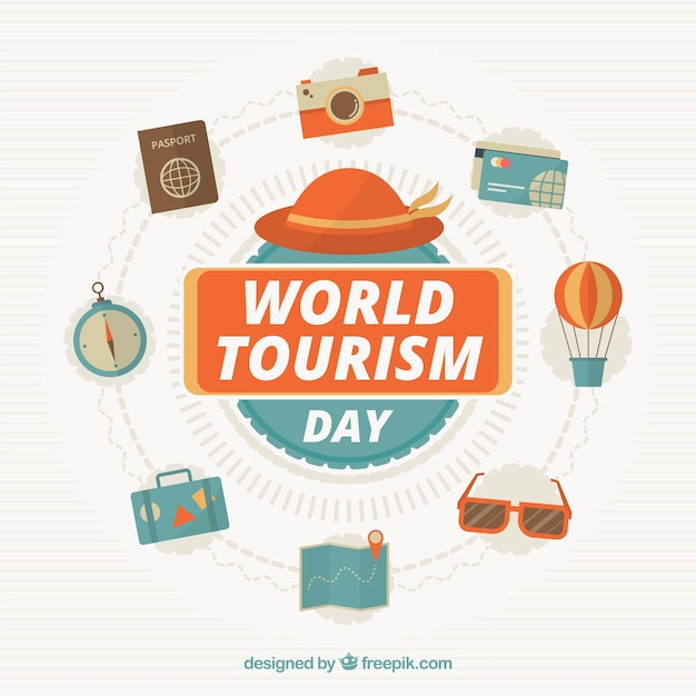 World tourism day, travel related elements