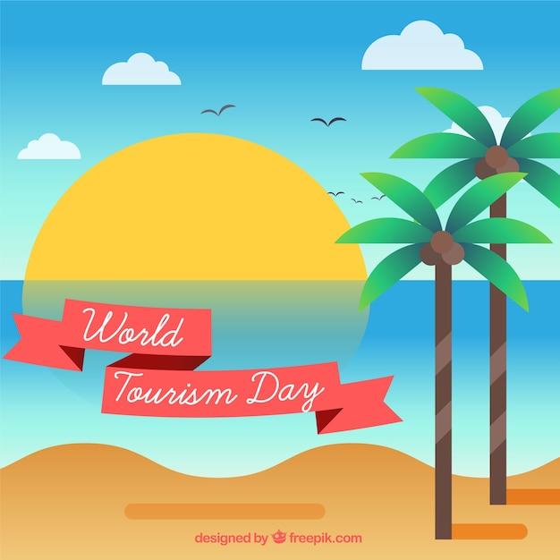 World tourism day, tropical landscape