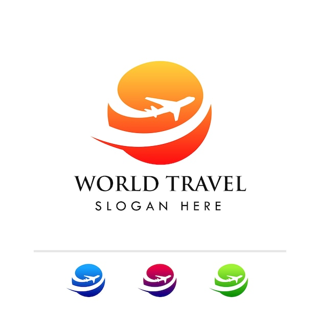 World Travel Agency Logo Template Premium Vector