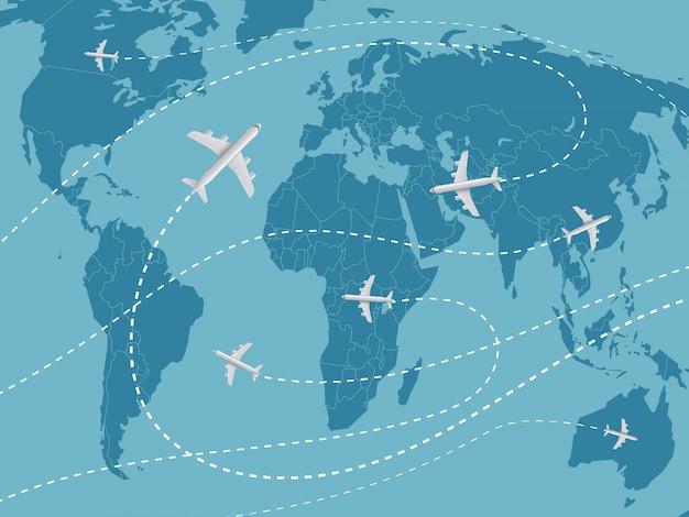 World travel concept. Premium Vector