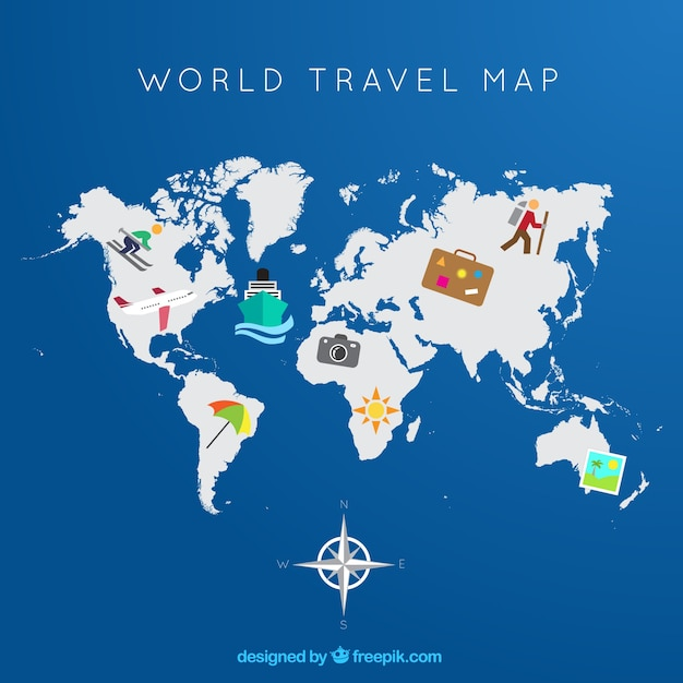 World travel map Vector – Travel Map Of The World
