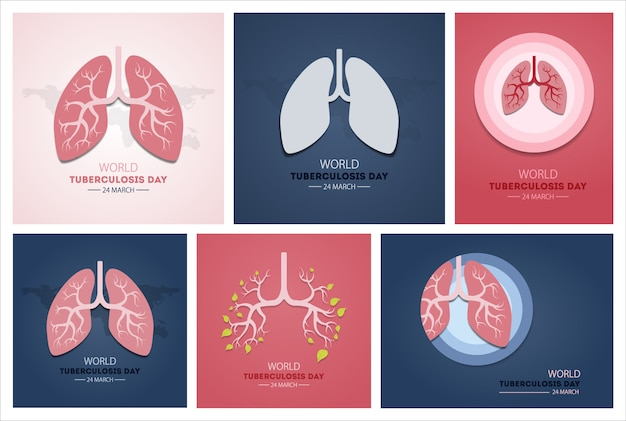 World tuberculosis day. event for illness awareness. Premium Vector