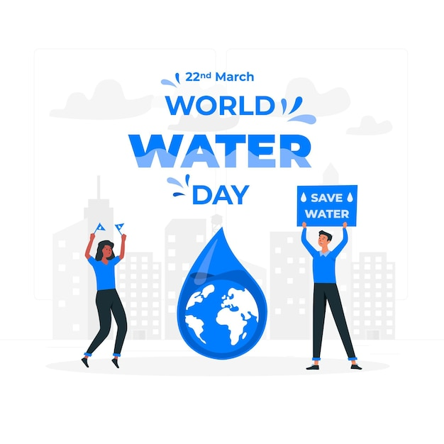 World water dayconcept illustration Free Vector