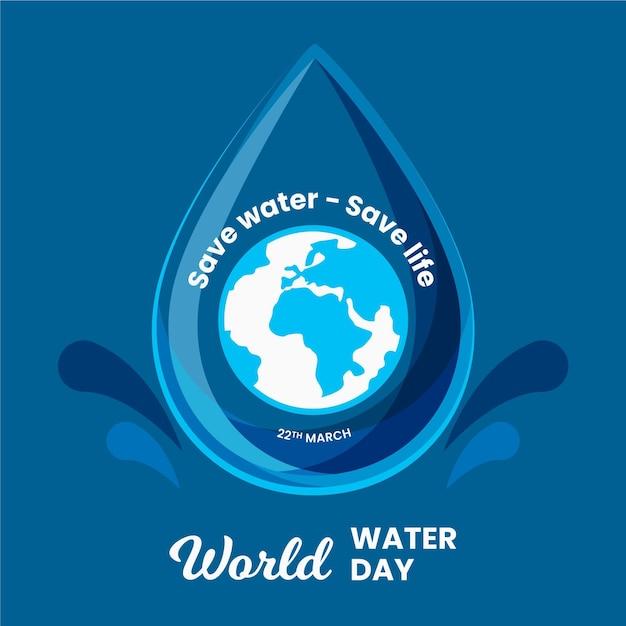 Giornata mondiale dell'acqua disegnata a mano Vettore gratuito