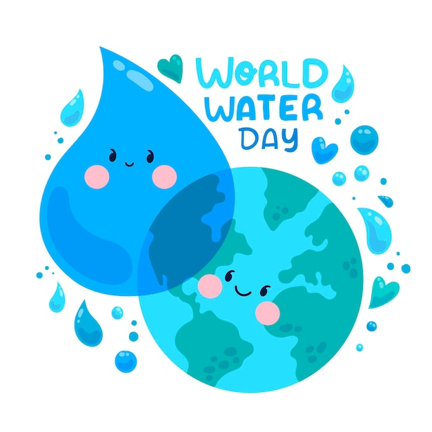 Всемирный день воды иллюстрация Бесплатные векторы