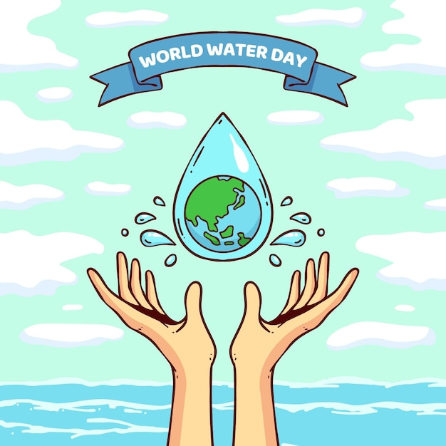 World water day illustration Free Vector