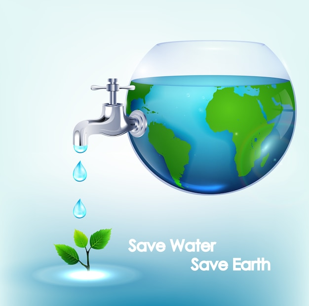 World water day poster design Premium Vector
