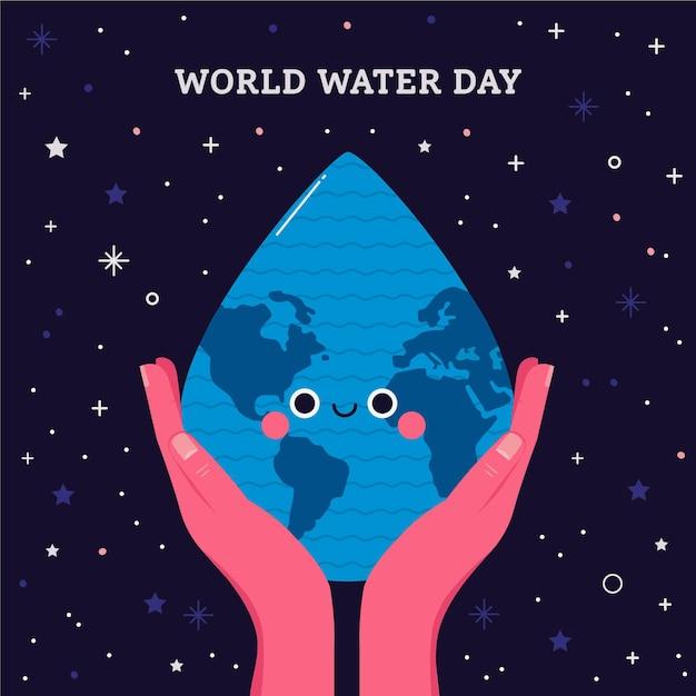 Giornata mondiale dell'acqua Vettore gratuito