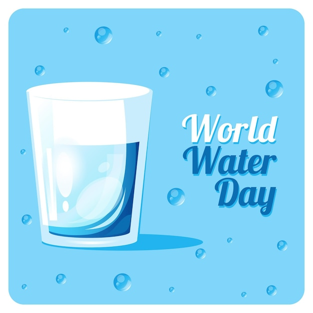 World water day Free Vector