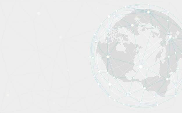Worldwide connection gray background illustration vector Free Vector