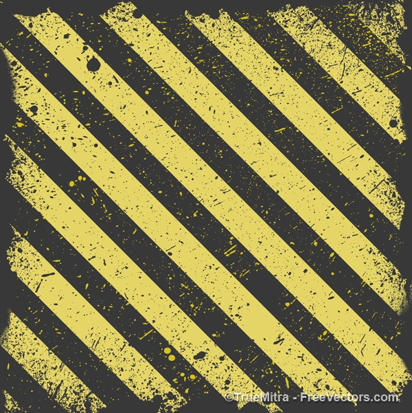 Worn striped yellow and black background Free Vector