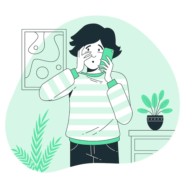Worried concept illustration Free Vector