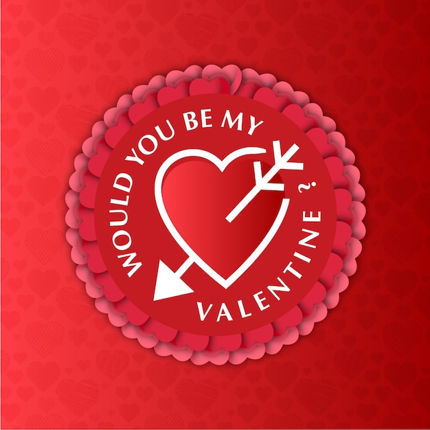 Would You Be My Valentine Card Vector Free Download