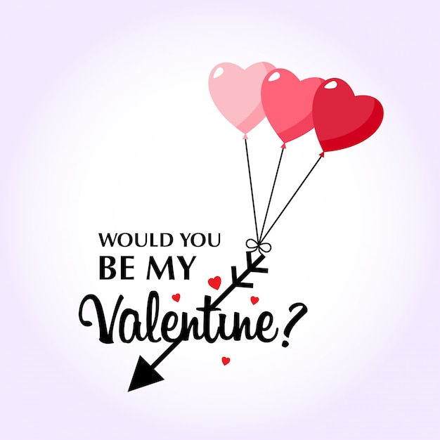 Would You Be My Valentineu0027s With Pink Background Free Vector