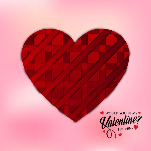 Would You Be My Valentine? Free Vector