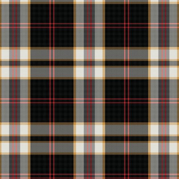 Woven scottish tartan plaid seamless pattern Premium Vector