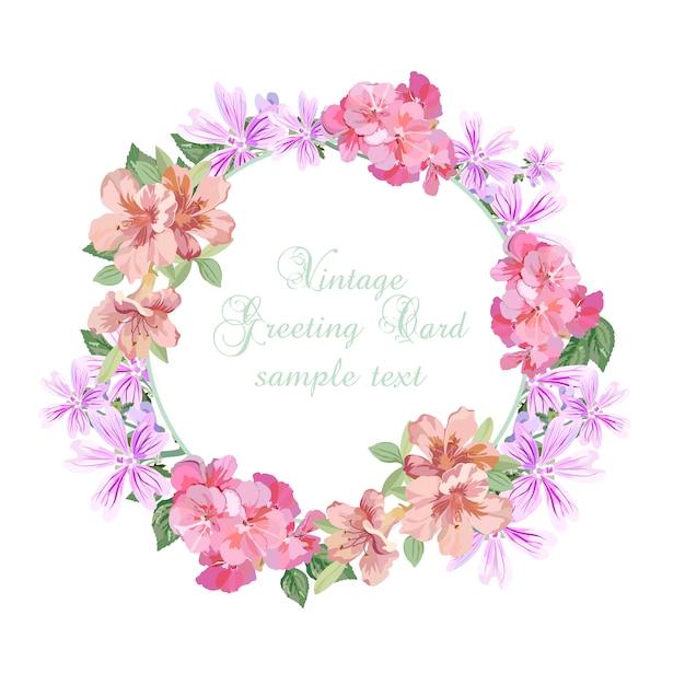 Wreath flower design Free Vector
