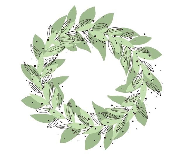잎의 화환 무료 벡터