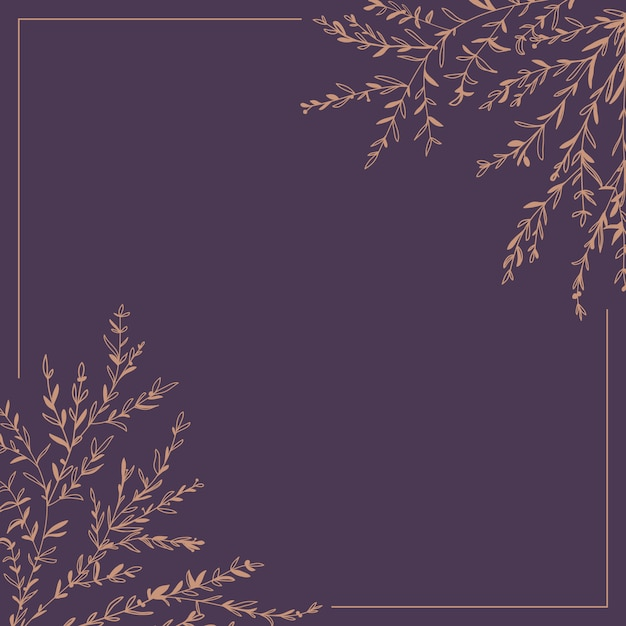 Wreath of twigs and leaves Premium Vector