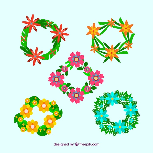 Wreaths with exotic flowers