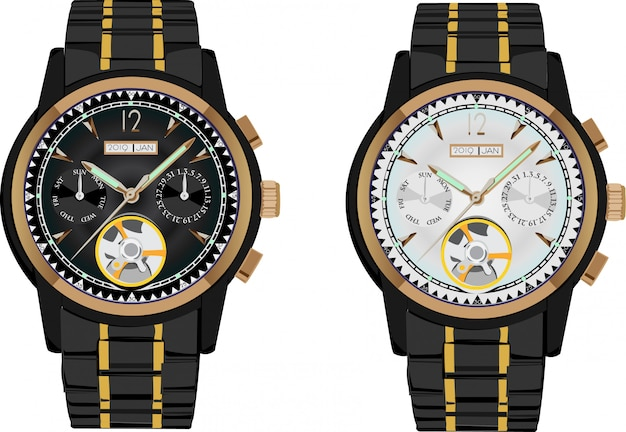 Wrist watch vector illustration Premium Vector