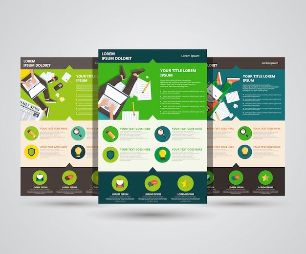 Writing and blogging landing pages Premium Vector